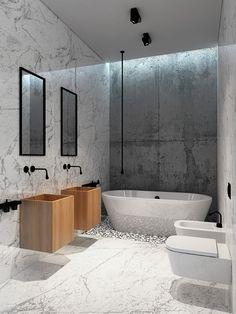 Modern Bathroom Design, Bathroom Interior, Zen Design, Modern Toilet, 3d Projects, Industrial Style, Bathtub, Home And Garden, Interior Design