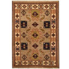Herat Oriental Indo Hand-knotted Tribal Kazak Rug