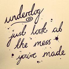 You Me At Six - Underdog Lyrics  www.facebook.com/EllisBarkerIllustration