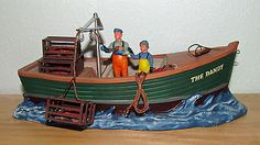 """Lemax Christmas Village lighted accent """"The Dandy', lobster fishing boat."""