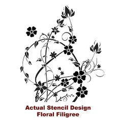 Cutting Edge Stencils - Floral Filigree Wall Stencil