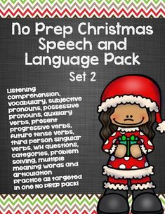 NO PREP CHRISTMAS ACTIVITIES for SPEECH and LANGUAGE!!
