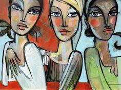 threegirls | 30 by 40 sold (to Drew the Texas Pilgrim) 2008 | Bekah Ash | Flickr