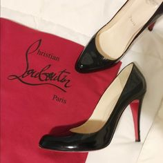 Make an Offer! Christian Louboutin Pumps  Only worn about 3 times. The patent leather is in perfect condition, some wear on the soles, and scuff on the heel. There is a line of black sharpie across the logo on the sole. When I purchased these were the display size and I received a small discount because of it. The sales person marked the shoes to my dismay to note that it was a floor display. 100% authentic!! Dust bag included! Christian Louboutin Shoes Heels