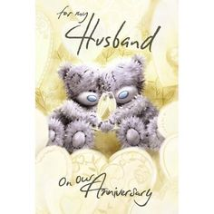 Husband on Our Anniversary Me to You Bear Card The Me to You Superstore with the entire Tatty Teddy Collection including Plush, Figurines, Station