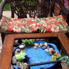 simple hummingbird bath, outdoor living, ponds water features, Favorite spot for watching hummers