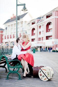 Disneys BoardWalk Resort Engagement Photos: Ashley + Charles