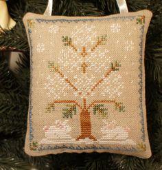 Christmas Ornament Rabbit Hare Door Hanger Decor Pillow Primitive