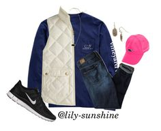 Oorn by lily-sunshine on Polyvore featuring polyvore, fashion, style, Vineyard Vines, J.Crew, American Eagle Outfitters, NIKE, Kendra Scott, women's clothing, women's fashion, women, female, woman, misses, juniors and thepreppypeoplecontest
