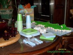 Alligator Themed Baby Shower Party Ideas from Simple Little Life: Party Ideas