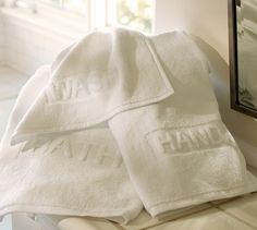 Script Sculpted 600-gram Weight Bath Towels | Pottery Barn   #bb+b inspired http://www.bbbinspired.com