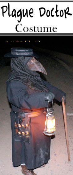 Creepy plague doctor costume.