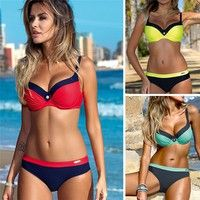 Wish | Bikini Set Summer Swimwear Women Sexy Beach Swimsuit Bathing Suit Push Up Brazilian Maillot  FAN
