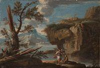A biblical scene by Salvator Rosa