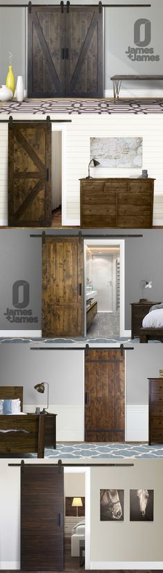 Check out all of our custom crafted, solid hardwood Barn Doors on our website!