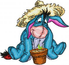 Eeyore machine embroidery design