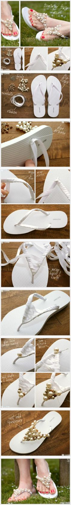 Gorgeous Flip Flops Visit: http://madebyhands.info/gorgeous-flip-flops/ #craft #DIY #craftideas