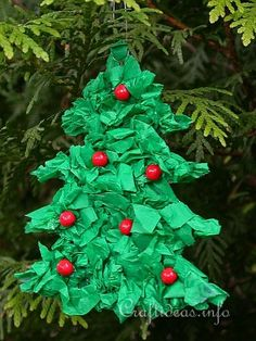 Christmas Paper Craft for Kids - Paper Christmas Tree