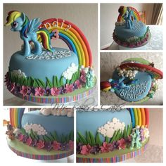 My Little Pony - Rainbow Dash cake
