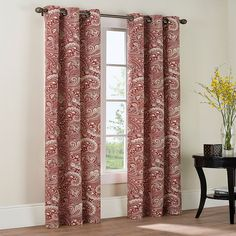 THE BIG ONE PAISLEY 2-PK. CURTAINS