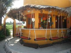 Isla Mujeres. Villa la Bella swing bar by  MoineauQC on tripadvisor