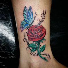 tatuagem feminina na perna de rosa - Pesquisa Google