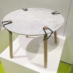 Loved this flat pack marble table by Charles Parford-Plant too! @maydesignseries pic by coadg