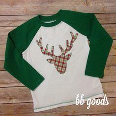 Boys deer applique tee from bb goods!!