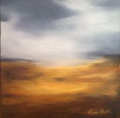 Golden abstract landscape