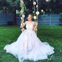 Vestido super romântico de @otiliabrailoiu   #prontaparaosim #
