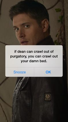 Dean Inspiration ~ I need this! ~ #Supernatural lol