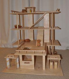 Wooden Toy Car Park /Garage 3 Levels by 2CheekyMonkeysAndMe, $200.00