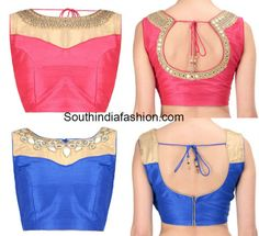 mirror_work_boat_neck_blouse_designs