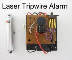Laser Tripwire Alarm - Kendin yap projeler No security system is complete without lasers. So in this project I am going to show you how to build a laser tripwire alarm from a laser point, a… - Home Security Tips, Wireless Home Security Systems, Security Alarm, Security Camera, Security Service, Security Gadgets, House Security, Security Doors, Security Products