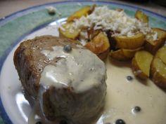 Steak s omáčkou ze zeleného pepře Stew, Eggs, Breakfast, Pepper, Morning Coffee, Egg, Egg As Food