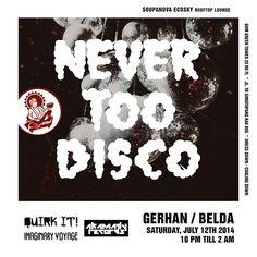 Never Too Disco - the party at Soupanova Ecosky, Jakarta, Inonesia #disco #supermoon #nevertoodisco
