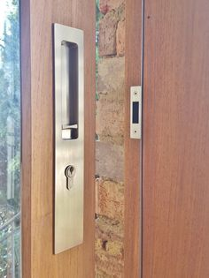 Chant Hardware - VS Euro Locking Flush Pull, installed by The Tidy Tradie - Lock Carpenter. #Chant #ChantProductions #Chanthardware #Lockcarpenter
