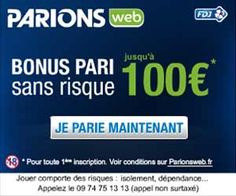 ParionsWeb : le bonus du pari perdant remboursé jusqu'à 100 euros disponible à nouveau jusqu'au 31 août 2013 | Actualités | BetComparative.com