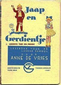 Op school lazen we van jaar tot jaar de 'Jaap en Gerdientjes' boeken van Anne de Vries in de leesles.
