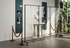Clear Barriers for Museum Displays | Screenflex Portable Room Dividers