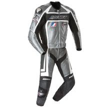 Joe Rocket Men's Speedmaster 5.0 Two Piece Leather Race Suit Gunmetal/Black