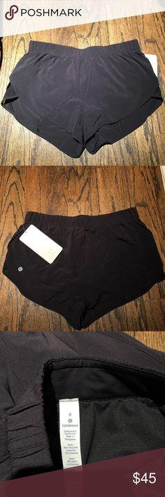 "Lululemon Back in Action Short 2.5"" NWT! Never worn! Just have too many black shorts lululemon athletica Shorts"