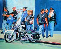 WWII Vintage Harley-Davidson Art | Tirage d'Art 8 x 10, « Biker Convention, Harley Davidson », aqua ... Art Harley Davidson, Bike Art, Cool Websites, Will Smith, American Flag, Baseball Cards, Prints, Poster, Etsy
