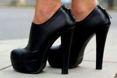 classic black booties.