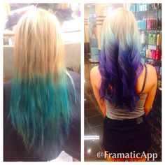 Before and after of pravana vivid color that I did