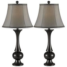 Side Table Lamp Set of 2 Dining Shade End Metalic Entryway Portable Modern #Unbranded #Modern