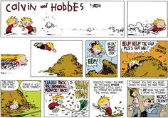 autumn leaves - Calvin and Hobbes by Bill Watterson. October 1, 2017