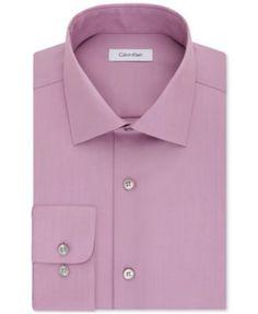 CALVIN KLEIN Calvin Klein Steel Men'S Classic-Fit Non-Iron Performance Solid Dress Shirt. #calvinklein #cloth # dress shirts