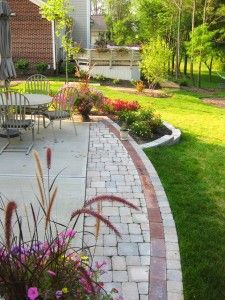 Extended Concrete Slab With Pavers Backyard Ideas
