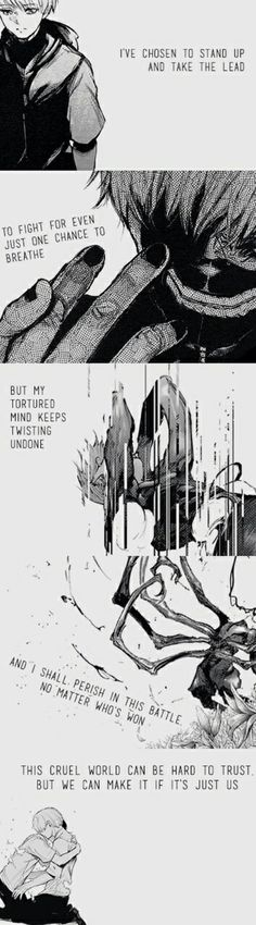 Quotes Love Anime Tokyo Ghoul 62 Ideas For 2019 Otaku E Otome, Otaku Anime, Manga Anime, Tokyo Ghoul Quotes, Ken Tokyo Ghoul, Sad Anime Quotes, Manga Quotes, Mundo Cruel, Hxh Characters